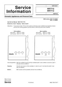 Manuale di servizio Supplemento Philips HR7712