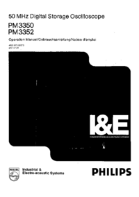 User Manual Philips PM 3352