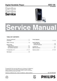 manuel de réparation Philips HDD 100