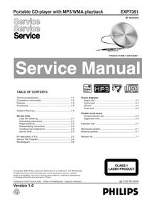 Manual de serviço Philips EXP7361