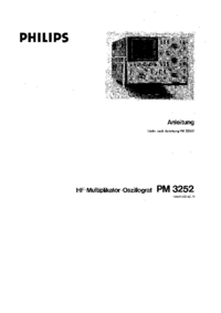 Service and User Manual Philips PM3252