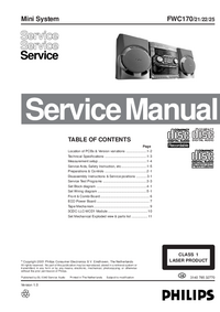 Manual de servicio Philips FWC170