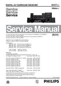 Service Manual Philips MX977