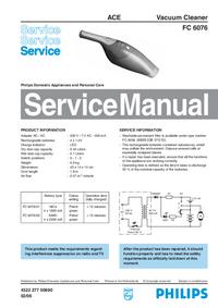 Manual de servicio Philips FC 6076