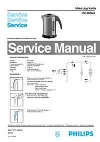 Manual de servicio Philips HD 4660/A