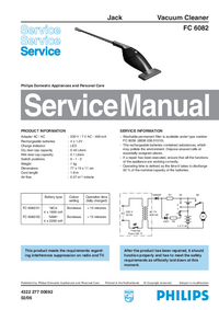 Service Manual Philips Jack FC 6082