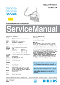 Manual de servicio Philips FC 6841/A