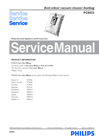 Manual de servicio Philips FC8023