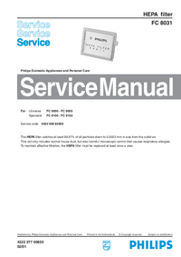 Service Manual Philips FC 8031