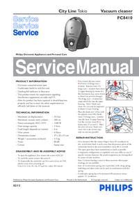 Servicehandboek Philips City Line Tokio FC8410