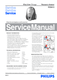 Service Manual Philips City Line Chicago FC8412
