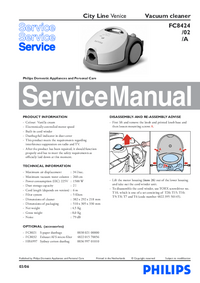 Manual de servicio Philips City Line Venice FC8424/02