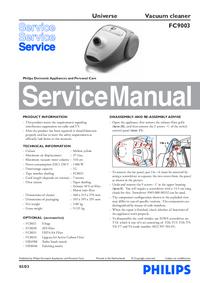 Manual de serviço Philips Universe FC9003