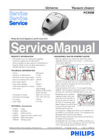 Manual de servicio Philips Universe FC9008