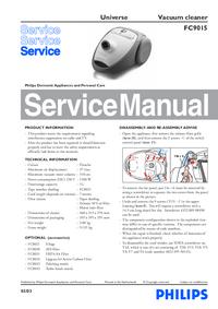Руководство по техническому обслуживанию Philips Universe FC9015