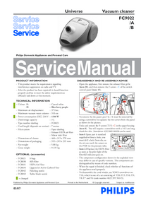 Manual de servicio Philips Universe FC9022/A