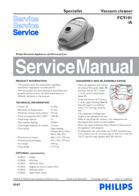 Service Manual Philips Specialist FC9101