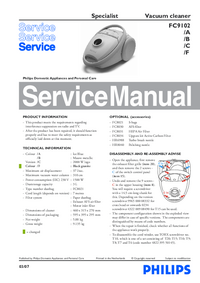 Manual de servicio Philips Specialist FC9102/B