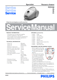 Service Manual Philips Specialist FC9104