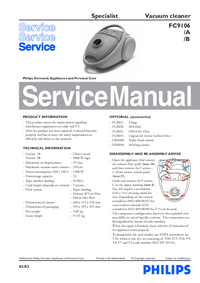 Service Manual Philips Specialist FC9106/B
