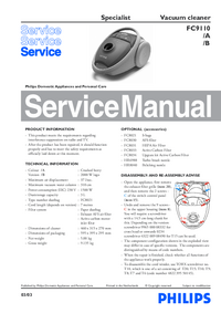 Manual de servicio Philips Specialist FC9110/B
