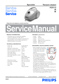 Service Manual Philips Specialist FC9112