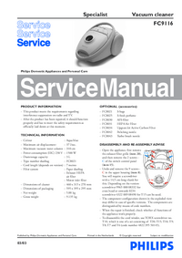 Manual de servicio Philips Specialist FC9116