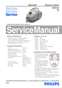 Service Manual Philips Specialist FC9122