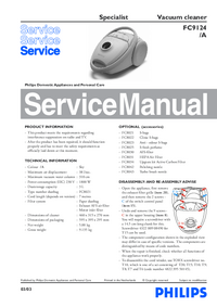 Manual de servicio Philips Specialist FC9124