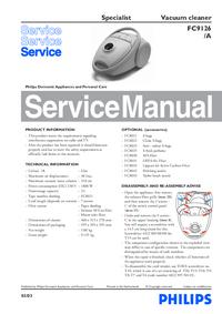 Manual de serviço Philips Specialist FC9126
