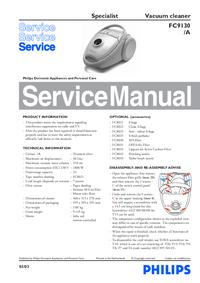 Руководство по техническому обслуживанию Philips Specialist FC9130/A