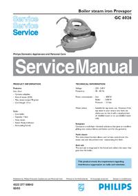Instrukcja serwisowa Philips Provapor GC 6026