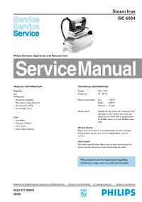 Manual de serviço Philips GC 6034