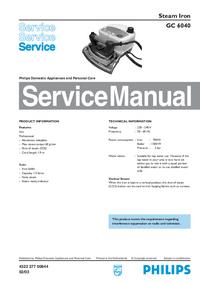 Manual de servicio Philips GC 6040