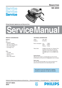 Manual de servicio Philips GC 6044
