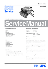 Service Manual Philips GC6048
