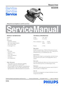 Manual de servicio Philips GC6048
