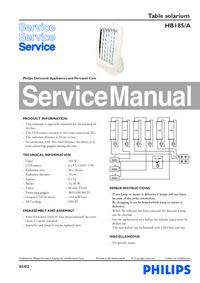 Manual de serviço Philips HB185/A