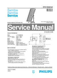Service Manual Philips HB 541/A