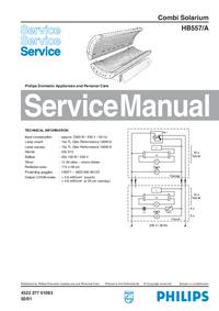 Manual de serviço Philips HB557/A
