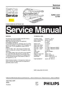 Service Manual Philips SUNStudio Combi HB576/A