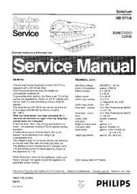 Руководство по техническому обслуживанию Philips SUNStudio Combi HB577/A