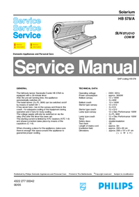 Manual de servicio Philips SUNStudio Combi HB578/A