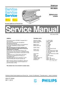 Service Manual Philips SUNStudio Combi HB 580/A
