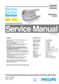Servicehandboek Philips Sunstudio Combi HB 581/A