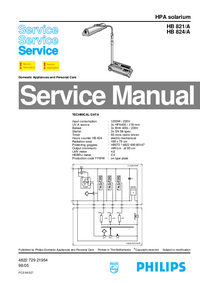 Manual de servicio Philips HB 824/A