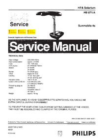 Manual de servicio Philips HB871/A