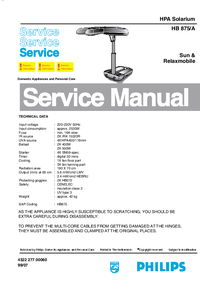 Service Manual Philips Relaxmobile HB 875/A