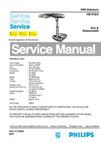 manuel de réparation Philips Sunmobile HB 875/A
