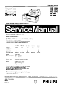 Service Manual Philips HD1896